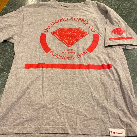 Diamond Supply Co. Other - Diamond Supply Co. Gray & Red Tee Size Large